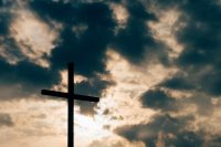 Cross against an emphatic sky